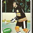 Boston Bruins Darryl Edestrand 1975 Topps Hockey Card 11 vg