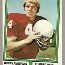 ST LOUIS CARDINALS DONNY ANDERSON 1974 TOPPS # 155 VG+/EX DC