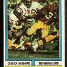 SAN FRANCISCO FORTY NINERS CEDRIC HARDMAN 1974 TOPPS # 165 EX/EM