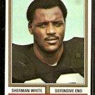 CINCINNATI BENGALS SHERMAN WHITE 1974 TOPPS # 184 EX MT