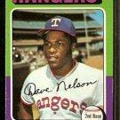 TEXAS RANGERS DAVE NELSON 1975 TOPPS # 435 VG