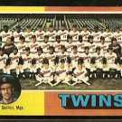 MINNESOTA TWINS TEAM CARD 1975 TOPPS # 443 marked cl