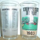 1983 CHURCHILL DOWNS KENTUCKEY DERBY GLASS SUNNY'S HALO