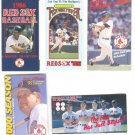 11 DIFFERENT BOSTON RED SOX POCKET SCHEDULES JOSE CANSECO WADE BOGGS +++ 1984 TO 1999