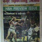 BOSTON CELTICS LARRY BIRD 1981 THE SPORTING NEWS NBA PREVIEW ISSUE NO LABEL