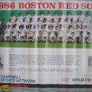 1986 BOSTON RED SOX TEAM POSTER ROGER CLEMENS AMERICAN LEAGUE CHAMPIONS SEASON