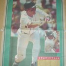 BOSTON RED SOX SCOTT FLETCHER LARGE COLORFUL 1993 NEWSPAPER POSTER