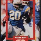 SAN DIEGO CHARGERS NATRONE MEANS 1995 PINUP PHOTO