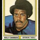 CHICAGO BEARS WALLY CHAMBERS 1974 TOPPS # 474 EM/NM