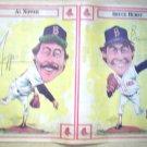 BOSTON RED SOX AL NIPPER BRUCE HURST 1986 NEWSPAPER POSTER