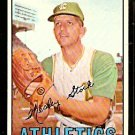 KANSAS CITY ATHLETICS WES STOCK 1967 TOPPS # 74 EX/EM