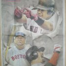 BOSTON RED SOX MANNY RAMIREZ BIG PAPI DAVID ORTIZ JASON VARITEK 2004 NEWSPAPER POSTER