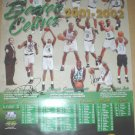 BOSTON CELTICS 2001 SCHEDULE POSTER WITH 7 AUTOGRAPHS