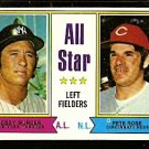 A.S. LEFT FIELD NEW YORK YANKEES BOBBY MURCER CINCINNATI REDS PETE ROSE 1974 TOPPS 336 EX/EM