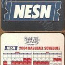 BOSTON RED SOX SAM ADAMS BEER 2004 COASTER SCHEDULE WORLD CHAMPIONS SEASON