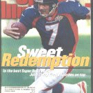 1998 SI DENVER BRONCOS JOHN ELWAY WIN SUPER BOWL PHILADELPHIA PHILLIES CURT SCHILLING GRIZZLIES