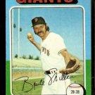 SAN FRANCISCO GIANTS BRUCE MILLER 1975 TOPPS # 606 EX
