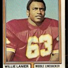 KANSAS CITY CHIEFS WILLIE LANIER 1974 TOPPS # 480 EM