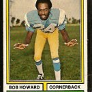 SAN DIEGO CHARGERS BOB HOWARD 1974 TOPPS # 483 EX
