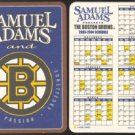 SAM ADAMS BEER BOSTON BRUINS 2003 CARDBOARD COASTER SCHEDULE