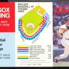 BOSTON RED SOX WADE BOGGS 1984 POCKET SCHEDULE