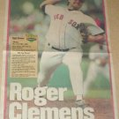 BOSTON RED SOX ROGER CLEMENS 1995 NEWSPAPER POSTER