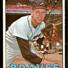 ATLANTA BRAVES KEN JOHNSON 1967 TOPPS # 101 EX