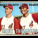 TRIBE THUMPERS CLEVELAND INDIANS ROCKY COLAVITO LEON WAGNER 1967 TOPPS # 109 VG+/EX