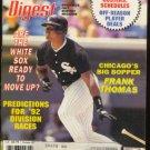 1992 BASEBALL DIGEST CHICAGO WHITE SOX FRANK THOMAS DETROIT TIGERS REGGIE JACKSON NEW YORK YANKEES