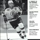 BOSTON BRUINS RAY BOURQUE 1999 NESN CABLE TV ADVERTISING BROCHURE