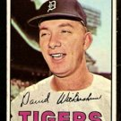 DETROIT TIGERS DAVE WICKERSHAM 1967 TOPPS # 112 VG/EX