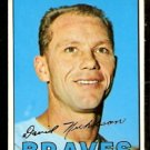 ATLANTA BRAVES DAVE NICHOLSON 1967 TOPPS # 113 EX
