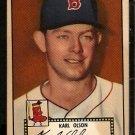 BOSTON RED SOX KARL OLSON 1952 TOPPS BLACKBACK # 72 VG