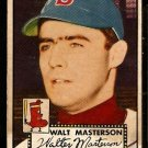 BOSTON RED SOX WALT MASTERSON 1952 TOPPS # 186 VG