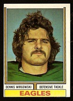 PHILADELPHIA EAGLES DENNIS WIRGOWSKI 1974 TOPPS # 518 EM/NM