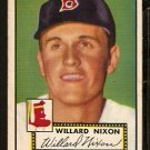 BOSTON RED SOX WILLARD NIXON ROOKIE CARD RC 1952 TOPPS # 269 VG