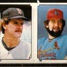1984 TOPPS STICKER BOSTON RED SOX DAVE STAPLETON # 227 CARDINALS BRUCE SUTTER # 145