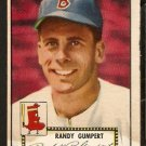 BOSTON RED SOX RANDY GUMPERT 1952 TOPPS # 247