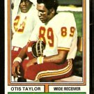 KANSAS CITY CHIEFS OTIS TAYLOR 1974 TOPPS # 520 EX/EM