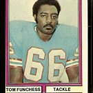 HOUSTON OILERS TOM FUNCHESS 1974 TOPPS # 527 EM/NM