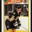 BOSTON BRUINS RICK MIDDLETON 1988 TOPPS # 87