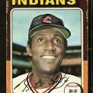 CLEVELAND INDIANS RICO CARTY 1975 TOPPS # 655 fair/good