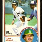 BOSTON RED SOX TONY ARMAS 1983 OPC O PEE CHEE # 353 EM/NM