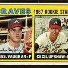 ATLANTA BRAVES ROOKIE STARS CECIL UPSHAW CHARLEY VAUGHN 1967 TOPPS # 179 EX/EM