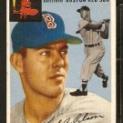 BOSTON RED SOX KARL OLSON 1954 TOPPS # 186 VG/EX