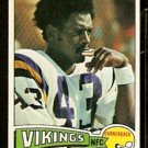 MINNESOTA VIKINGS NATE WRIGHT 1975 TOPPS # 130 EX MT