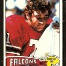 ATLANTA FALCONS JOHN ZOOK 1975 TOPPS # 133 EX MT