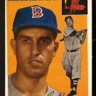 BOSTON RED SOX BILLY CONSOLO ROOKIE CARD RC 1954 TOPPS # 195 VG+/EX