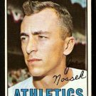 KANSAS CITY ATHLETICS JOE NOSSEK 1967 TOPPS # 209 VG/EX