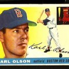 BOSTON RED SOX KARL OLSON 1955 TOPPS # 72 VG+/EX